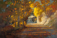 DONALD F. RICKS (American, 1929-1996) Autumn Sunlight Oil on canvas 36 x 54 inches (91.4 x 137.2