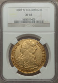 Colombia, Colombia: Charles III gold 8 Escudos 1788 P-SF XF45 NGC,...