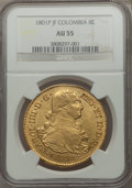 Colombia, Colombia: Charles IV gold 8 Escudos 1801 P-JF AU55 NGC,...