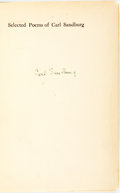 Books:Literature 1900-up, [Carl Sandburg]. SIGNED. Selected Poems of Carl Sandburg.Edited by Rebecca West. New York: Harcourt, Brace,...