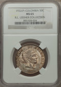 Colombia, Colombia: Republic 50 Centavos 1922 (P) MS65 NGC,...