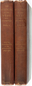 Books:Americana & American History, Theodore Roosevelt. The Winning of the West. New York:Putnam's, 1889. First edition. Two octavo volumes. Original c...(Total: 2 Items)