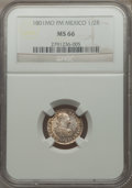 Mexico, Mexico: Charles IV 1/2 Real 1801 Mo-FM MS66 NGC,...