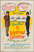 """Movie Posters:Fantasy, It Happened Tomorrow (United Artists, 1944). One Sheet (27"""" X 41""""). Fantasy.. ..."""