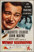 "Movie Posters:Comedy, Without Reservations (RKO, R-1953). One Sheet (27"" X 41""). Comedy.. ..."