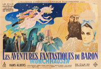 "The Adventures of Baron Munchausen (UFA, 1943). French Double Grande (63"" X 92.5"")"