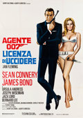 "Movie Posters:James Bond, Dr. No (United Artists, R-1971). Italian 4 - Foglio (55"" X 77.5"")....."