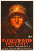 "Movie Posters:Academy Award Winners, All Quiet on the Western Front (Universal, 1930). Swedish One Sheet(26.75"" X 39.25"").. ..."