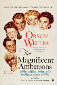 "The Magnificent Ambersons (RKO, 1942). One Sheet (27.25"" X 41"")"
