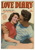 """Golden Age (1938-1955):Romance, Love Diary #7 Davis Crippen (""""D"""" Copy) pedigree (Our PublishingCo./Toytown/Patches, 1950) Condition: VF/NM...."""