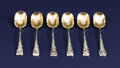 Silver Flatware, American:Shiebler, A Set of Six American Silver Demitasse Spoons. George W. Shiebler& Co., New York, New York. Circa 1880. Silver and silver...(Total: 6 Items)