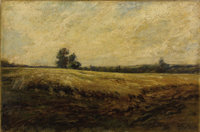 EDWARD LAY Landscape, 1917 Oil on canvas 30 x 20 inches (76.2 x 50.8 cm) Signed at lower right