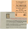 Music Memorabilia:Tickets, Beatles King's Hall Concert Ticket Stub. From their November 2, 1964, performance at the King's Hall Balmoral in Belfast, Ir... (Total: 1 Item)