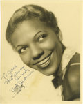 "Music Memorabilia:Autographs and Signed Items, Ivie Anderson Signed Photo. A b&w 8"" x 10"" photo of the Jazzsinger, inscribed and signed by her in blue fountain ink. In Ve...(Total: 1 Item)"