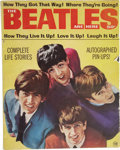 "Music Memorabilia:Memorabilia, ""The Beatles Are Here"" Vintage Magazine (1964). A rare vintage copy of the 1964 promo magazine, 72-pages featuring b&w photo... (Total: 1 Item)"