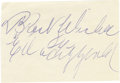 """Music Memorabilia:Autographs and Signed Items, Ella Fitzgerald Autograph Cut. An Ella Fitzgerald autograph cut (inblue ink). Her inscription, """"Best Wishes,"""" has a repeate... (Total:1 Item)"""