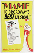 """Movie/TV Memorabilia:Posters, """"Mame"""" Original Broadway Poster. An original 14"""" x 22"""" poster forthe 1956 Broadway production of Mame, which starred An...(Total: 1 Item)"""