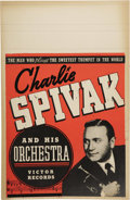 "Music Memorabilia:Posters, Charlie Spivak Vintage Poster. A vintage 14"" x 22"" poster featuringCharlie Spivak and His Orchestra, in Very Good to Fine c... (Total:1 Item)"