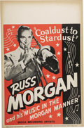 "Music Memorabilia:Posters, Russ Morgan Vintage Poster. A vintage 14"" x 22"" poster featuringtrombonist Russ Morgan, in Very Good to Fine condition with...(Total: 1 Item)"