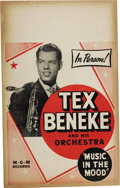 "Music Memorabilia:Posters, Tex Beneke Vintage Poster. A vintage 14"" x 22"" poster featuring TexBeneke and His Orchestra, in Very Good to Fine condition... (Total:1 Item)"