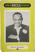 "Music Memorabilia:Posters, Lionel Hampton Vintage Standee. A vintage 12"" x 18"" Decca Recordsstandee promoting the Jazz bandleader, in Very Good condit...(Total: 1 Item)"