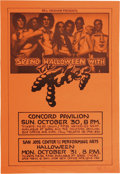 Music Memorabilia:Autographs and Signed Items, Randy Tuten Signed Concert Poster Group (Bill Graham, 1977-78).Includes: Tubes Concord Pavilion Halloween 1977 (approximat...(Total: 2 Items Item)