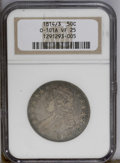 Bust Half Dollars: , 1814/3 50C VF25 NGC. O-101A. NGC Census: (0/105). PCGS Population(3/59). Numismedia Wsl. Price: $165.(#6106)...