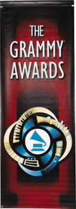 "Music Memorabilia:Memorabilia, Banner from 2000 Grammy Awards. A 96"" x 35"" banner, displayed atthe 2000 Grammy Awards ceremony. The televised event is bes...(Total: 1 Item)"