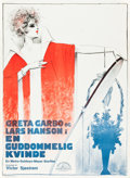 "Movie Posters:Drama, The Divine Woman (MGM, 1928). Swedish One Sheet (24"" X 33.5"").. ..."