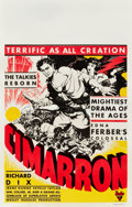 "Movie Posters:Western, Cimarron (RKO, 1931). Window Card (14"" X 22""). Western.. ..."