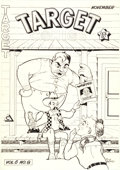 Original Comic Art:Covers, Al Fago Target Comics V6#8 Cover Original Art (NoveltyPress, 1945)....