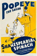 "Movie Posters:Animated, Popeye the Sailor in Shakespearian Spinach (Paramount, 1940). One Sheet (27.25"" X 41"").. ..."