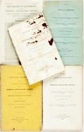 Books:Americana & American History, [American Anti-Slavery Society]. Group of Four Annual Reports ofthe American Anti-Slavery Society along with a Declarat...(Total: 4 Items)
