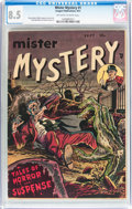 Golden Age (1938-1955):Horror, Mister Mystery #1 (Aragon, 1951) CGC VF+ 8.5 Off-white to whitepages....
