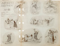 animation art:Model Sheet, Pluto Model Sheet Group (Disney, 1930s).... (Total: 3 Items)