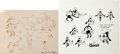 animation art:Model Sheet, Goofy Model Sheet Group (Disney, 1930s).... (Total: 4 Items)