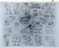 animation art:Model Sheet, Mickey Mouse Model Sheet Group (Disney, 1930s).... (Total: 3Items)