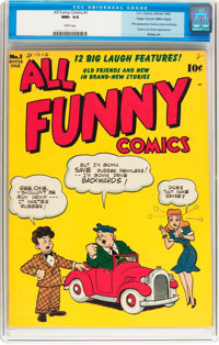All Funny Comics #1 Mile High pedigree (DC, 1943) CGC NM+ 9.6 White pages