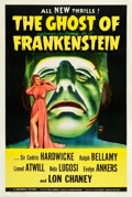 "Movie Posters:Horror, The Ghost of Frankenstein (Universal, 1942). One Sheet (27"" X41"").. ..."