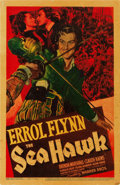 "Movie Posters:Swashbuckler, The Sea Hawk (Warner Brothers, 1940). Trimmed Midget Window Card (8"" X 12.5"").. ..."