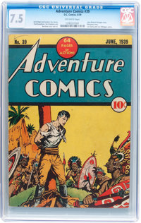 Adventure Comics #39 (DC, 1939) CGC VF- 7.5 Off-white pages