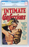 Golden Age (1938-1955):Romance, Intimate Confessions #2 Mile High pedigree (Realistic Comics, 1951)CGC VG 4.0 White pages....