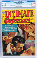 Golden Age (1938-1955):Romance, Intimate Confessions #8 Mile High pedigree (Realistic Comics, 1953)CGC VF- 7.5 Off-white to white pages....