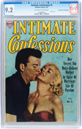 Golden Age (1938-1955):Romance, Intimate Confessions #5 Mile High pedigree (Realistic Comics, 1952)CGC NM- 9.2 Off-white to white pages....