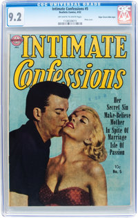 Intimate Confessions #5 Mile High pedigree (Realistic Comics, 1952) CGC NM- 9.2 Off-white to white pages