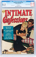 Golden Age (1938-1955):Romance, Intimate Confessions #6 Mile High pedigree (Realistic Comics, 1952)CGC VF+ 8.5 White pages....