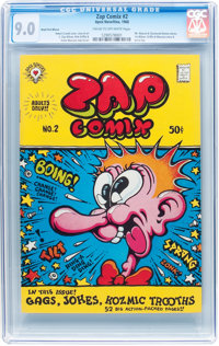 Zap Comix #2 First Printing (Apex Novelties, 1968) CGC VF/NM 9.0 Cream to off-white pages