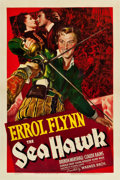 "Movie Posters:Swashbuckler, The Sea Hawk (Warner Brothers, 1940). One Sheet (27"" X 41"").. ..."