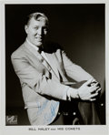 Music Memorabilia:Autographs and Signed Items, Bill Haley Signed Black and White Publicity Photograph (Circa1950s)....
