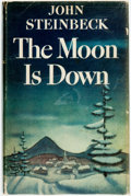 """Books:Literature 1900-up, [Featured Lot] John Steinbeck. The Moon is Down. New York:Viking Press, [1942]. First edition, first state, with """"t..."""